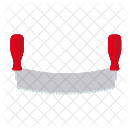 Two handed saw Icon