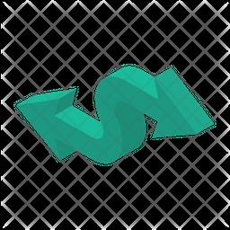 Two Way Arrow Isometric Icon