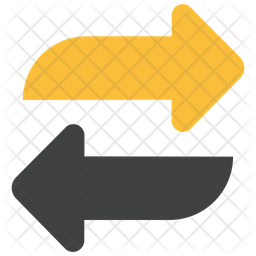 Two Way Arrows Icon Of Flat Style Available In Svg Png Eps Ai Icon Fonts
