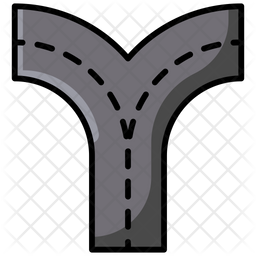 Two Way Road Icon
