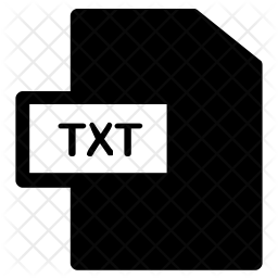 Txt format Icon