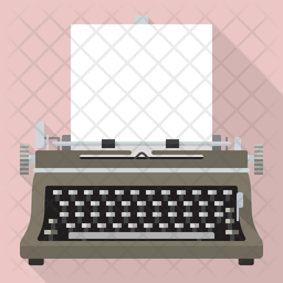 Vintage Typewriter Icon