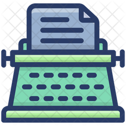 Typewriter Machine Icon