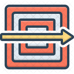 Typically Colored Outline Icon