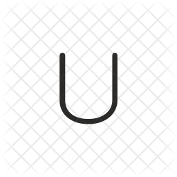 U Letter Glyph Icon