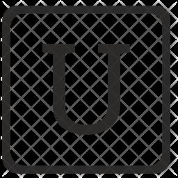 U Letter Icon