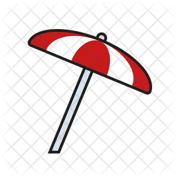 Parasol Icon Of Colored Outline Style Available In Svg Png Eps Ai Icon Fonts