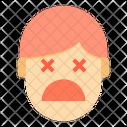 Unconcius Sad Emotion Face Icon