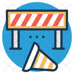 Under Construction Barrier Icon