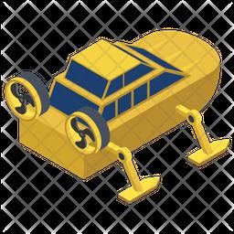 Underwater Diving Vehicle Icon