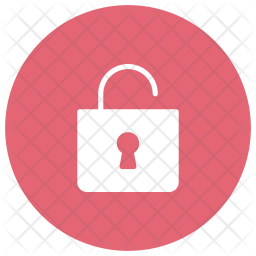 Unlock Glyph Icon