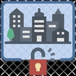 Unlock Lockdown Icon