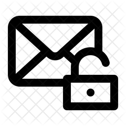 Unlock Message Line Icon