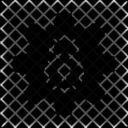 Unlock Router Glyph Icon