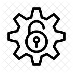 Unlock Setting Line Icon