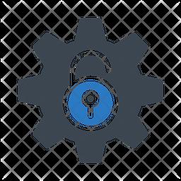 Unlock Setting Flat Icon