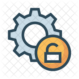 Unlock Setting Colored Outline Icon