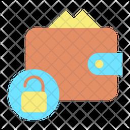 Unlock Wallet Flat Icon