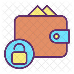 Unlock Wallet Colored Outline Icon