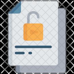 Unlocked Document Icon
