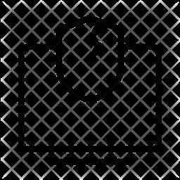Unprotected Computer Line Icon