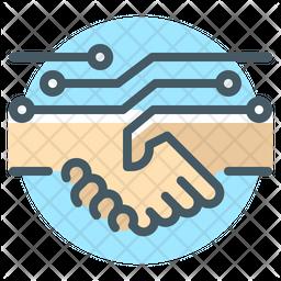 Untact Handshake Icon