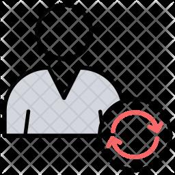 Update Profile Colored Outline Icon