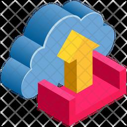 Upload Isometric Icon