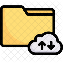 Upload And Download Data Cloud Colored Outline Icon