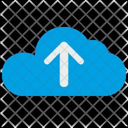 Upload cloud Flat Icon