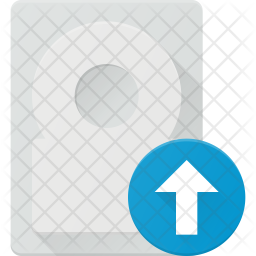 Upload data in hdd Icon