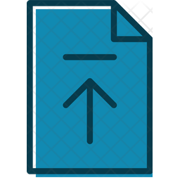 Upload Documents Colored Outline Icon