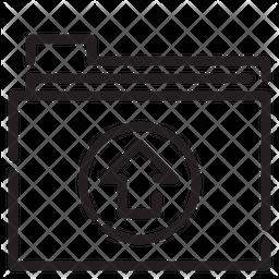 Upload Folder Line Icon
