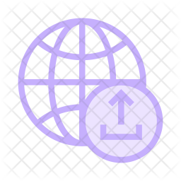 Upload network Colored Outline Icon