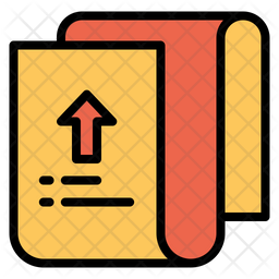 Upload Page Icon Of Colored Outline Style Available In Svg Png Eps Ai Icon Fonts