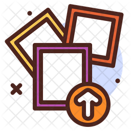 Upload Photo Colored Outline Icon