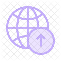 Upload to network Colored Outline Icon