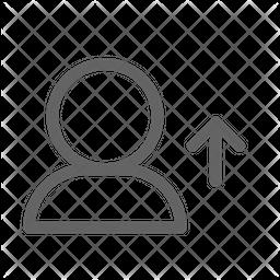 Upload user Line Icon
