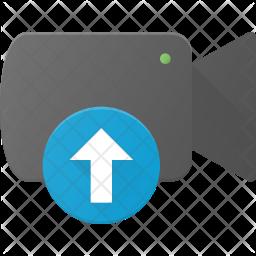 Upload video Flat Icon