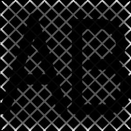 Uppercase text Icon