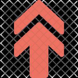 Upward Arrow Flat Icon
