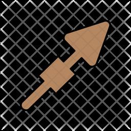 Upward Right Arrow Colored Outline Icon
