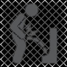 Urine Pain Glyph Icon