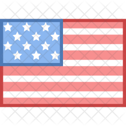 Usa Flag Icon Of Colored Outline Style Available In Svg Png Eps Ai Icon Fonts