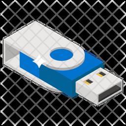 Usb Isometric Icon