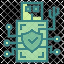 Usb Digital Security Dualtone Icon