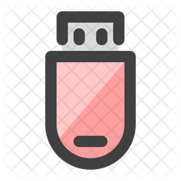 Usb drive Colored Outline Icon