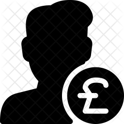 Pound User Glyph Icon