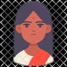 Woman Avatar Flat Icon