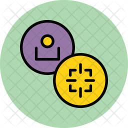 User Colored Outline Icon